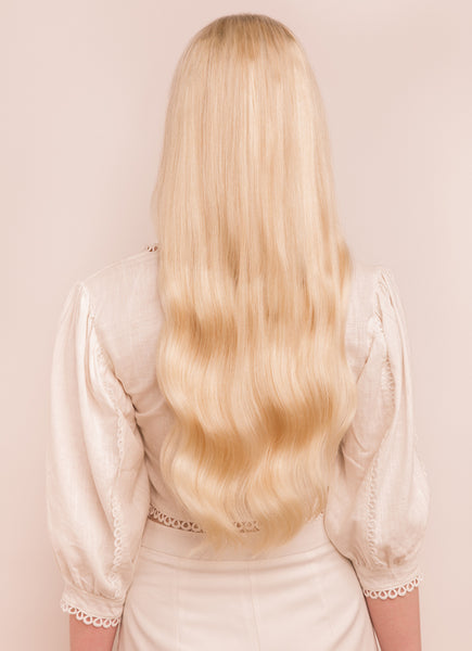 22 Inch Halo Hair Extensions #60 Light Blonde