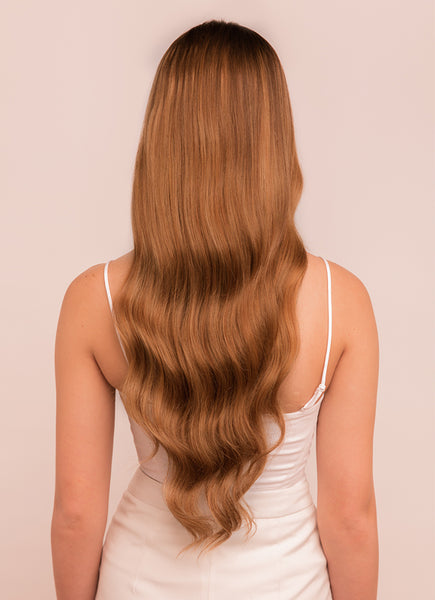 22 Inch Halo Hair Extensions #8 Chestnut Brown