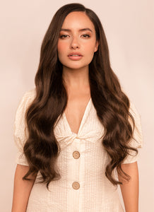24 Inch Deluxe Clip in Hair Extensions #1C Mocha Brown