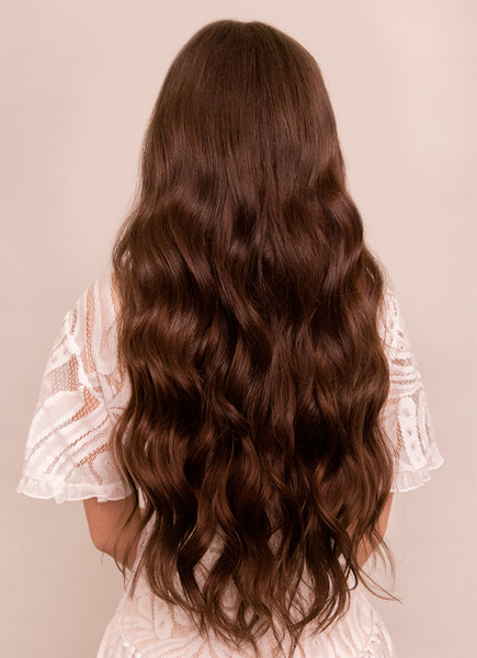 24 Inch Nail/ U-Tip Hair Extensions #2 Dark Brown