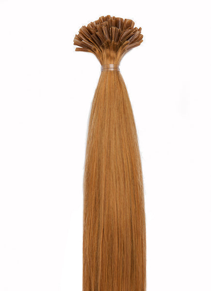 24 Inch Nail/ U-Tip Hair Extensions #8 Chestnut Brown