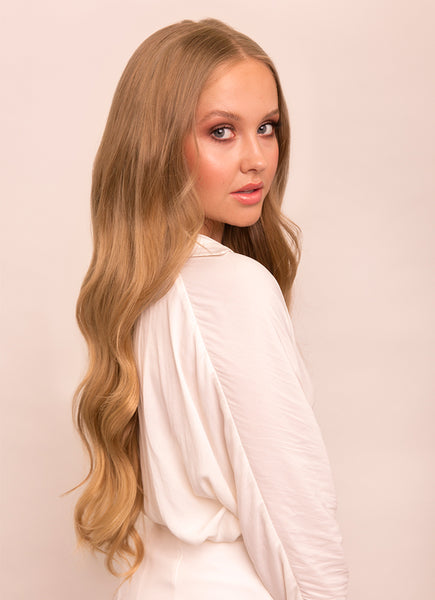 24 Inch Ultimate Volume Clip in Hair Extensions #18 Golden Blonde