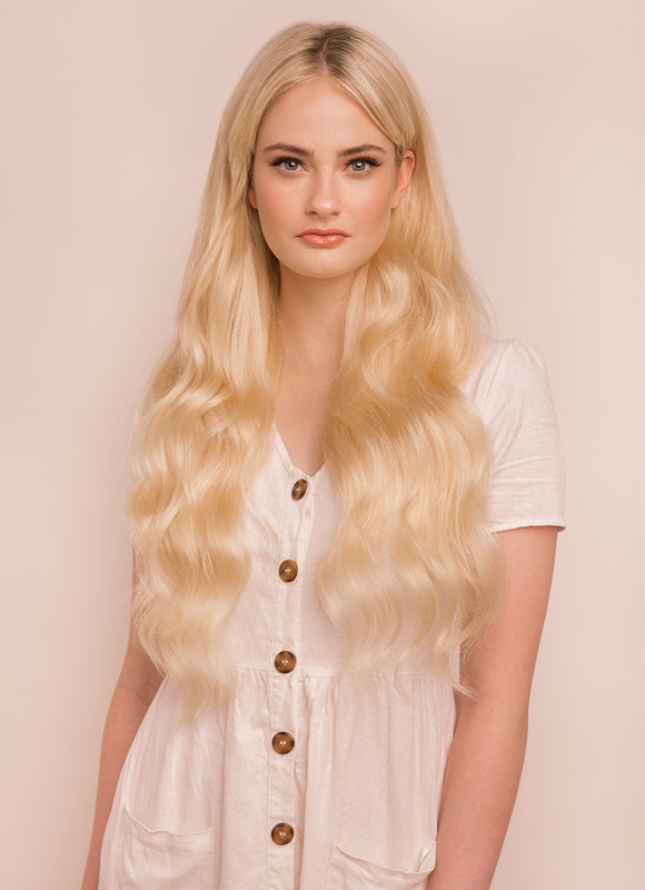 24 Inch Ultimate Volume Clip in Hair Extensions #60 Light Blonde