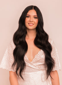 24 Inch Ultimate Volume Clip in Hair Extensions #1B Natural Black