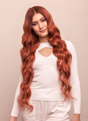 30 Inch Ultimate Volume Clip in Hair Extensions #33 Dark Auburn