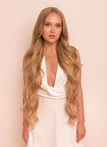 30 Inch Ultimate Volume Clip in Hair Extensions #18 Golden Blonde