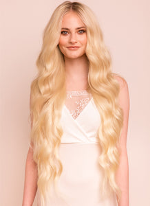 30 Inch Ultimate Volume Clip in Hair Extensions #60 Light Blonde