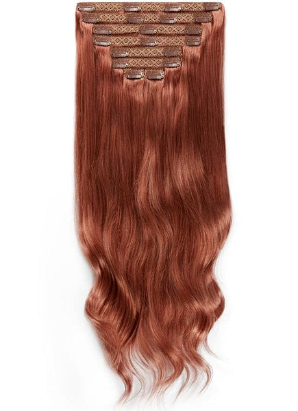 16 Inch Ultimate Volume Clip in Hair Extensions #33 Dark Auburn