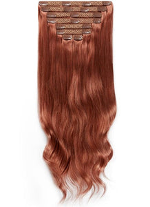 20 Inch Ultimate Volume Clip in Hair Extensions #33 Dark Auburn