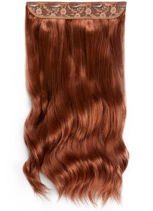 20 Inch Clip In One Piece/ Volumiser #33 Dark Auburn