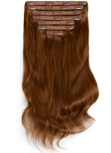 24 Inch Ultimate Volume Clip in Hair Extensions #4 Medium Brown