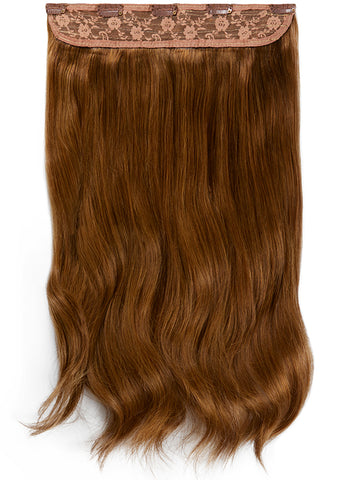 20 Inch Clip In One Piece/ Volumiser #4 Medium Brown