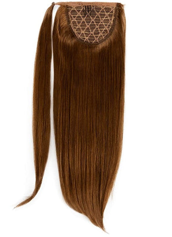 16 Inch Clip In Ponytail Extension #4 Medium Brown