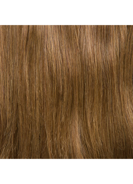 22 inch Seamless Clip in Hair Extensions #4 Medium Brown