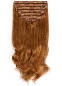 30 Inch Ultimate Volume Clip in Hair Extensions #6 Light Chestnut Brown