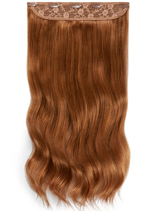 20 Inch Clip In One Piece/ Volumiser #6 Light Chestnut Brown