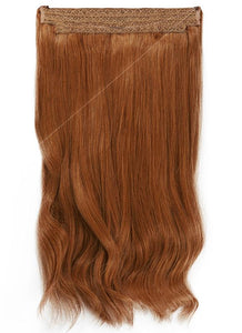 22 Inch Halo Hair Extensions #6 Light Chestnut Brown
