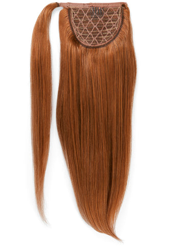 22 Inch Clip In Ponytail Extension #6 Light Chestnut Brown
