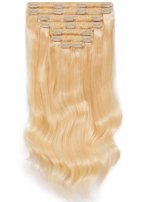 16 Inch Ultimate Volume Clip in Hair Extensions #60 Light Blonde