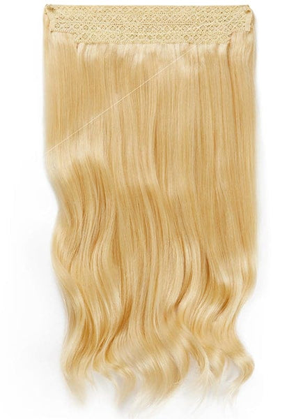 16 Inch Halo Hair Extensions #60 Light Blonde