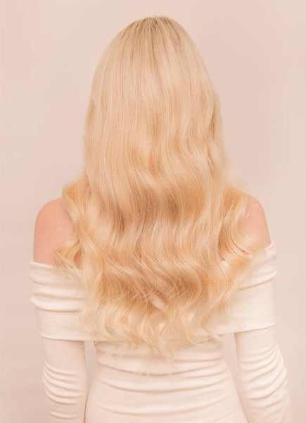 20 Inch Deluxe Clip in Hair Extensions #60 Light Blonde