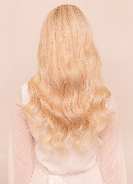 20 Inch Full Volume Clip in Hair Extensions #60 Light Blonde