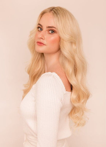 20 Inch Ultimate Volume Clip in Hair Extensions #60 Light Blonde