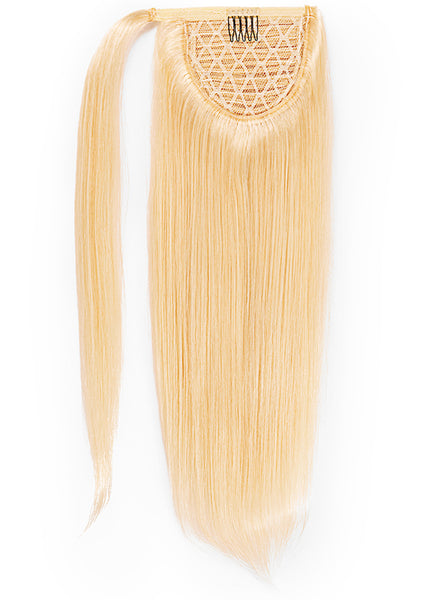 22 Inch Clip In Ponytail Extension #60 Light Blonde