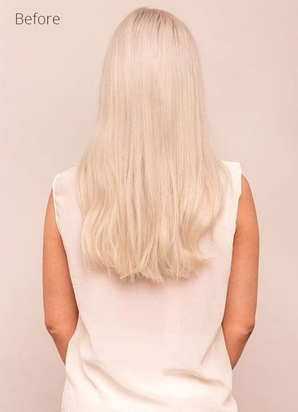 20 Inch Remy Tape Hair Extensions Platinum Blonde