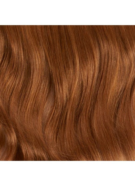 16 Inch Clip In Ponytail Extension #6 Light Chestnut Brown