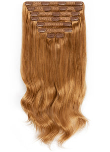 30 Inch Ultimate Volume Clip in Hair Extensions #8 Chestnut Brown