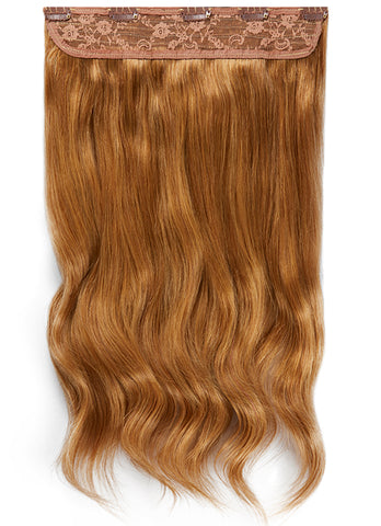 20 Inch Clip In One Piece/ Volumiser #8 Chestnut Brown