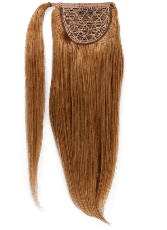 16 Inch Clip In Ponytail Extension #8 Chestnut Brown
