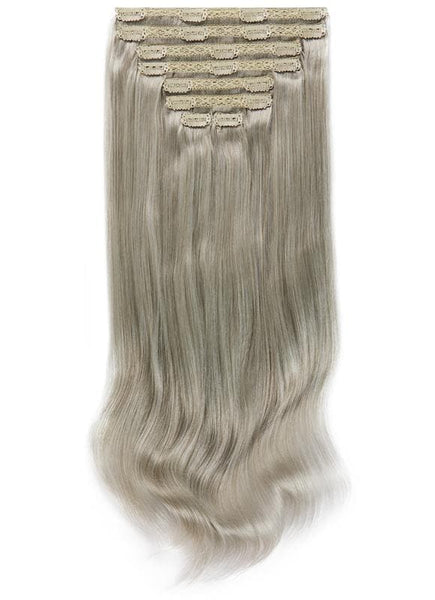 20 Inch Full Head Clip in Hair Extensions #Silver
