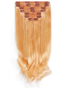 16 Inch Full Head Clip in Hair Extensions #27/613 Blonde Mix