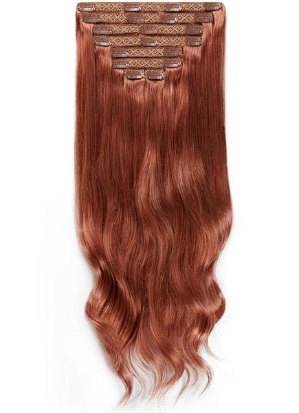 16 Inch Full Volume Clip in Hair Extensions #33 Dark Auburn