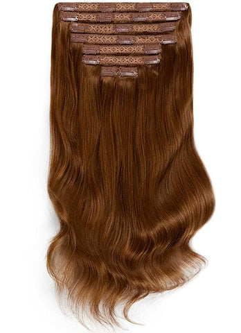 16 Inch Full Head Clip in Hair Extensions #4 Medium Brown
