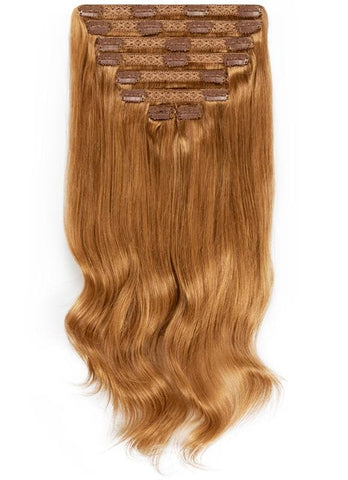 20 Inch Full Head Clip in Hair Extensions #8 Chestnut Brown