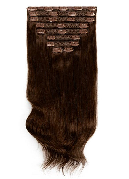 20 Inch Deluxe Clip in Hair Extensions #1C Mocha Brown