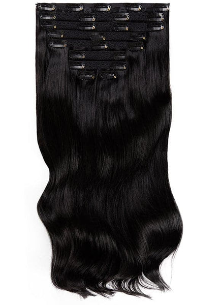 20 Inch Deluxe Clip in Hair Extensions #1 Jet Black