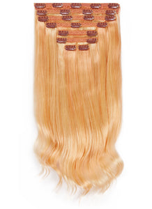 24 Inch Deluxe Clip in Hair Extensions #27/613 Blonde Mix
