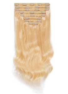 24 Inch Deluxe Clip in Hair Extensions #60 Light Blonde