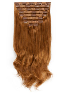24 Inch Deluxe Clip in Hair Extensions #6 Light Chestnut Brown
