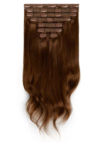 20 Inch Deluxe Clip in Hair Extensions #2 Dark Brown