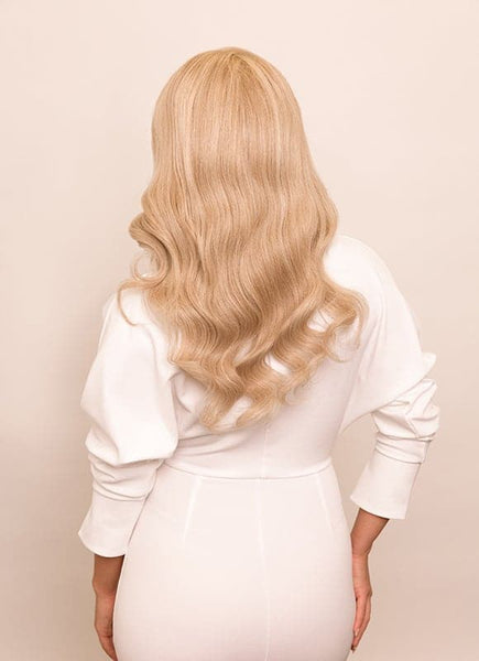 16 Inch Full Lace Human Hair Wig #60 Light Blonde
