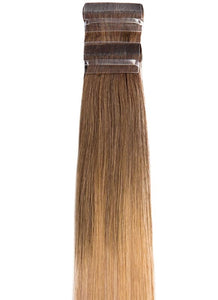 20 Inch Remy Tape Hair Extensions #T4/27+T8/24A Ombre