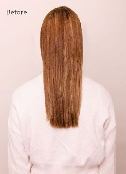 16 Inch Deluxe Clip in Hair Extensions #6 Light Chestnut Brown