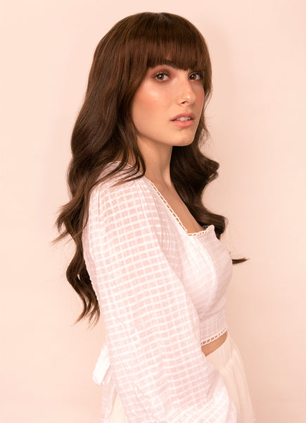 Clip in Fringe/ Bangs #2 Dark Brown