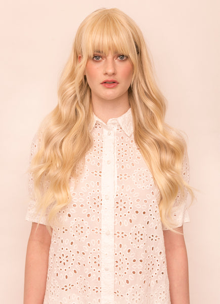 Clip in Fringe/ Bangs #60 Light Blonde