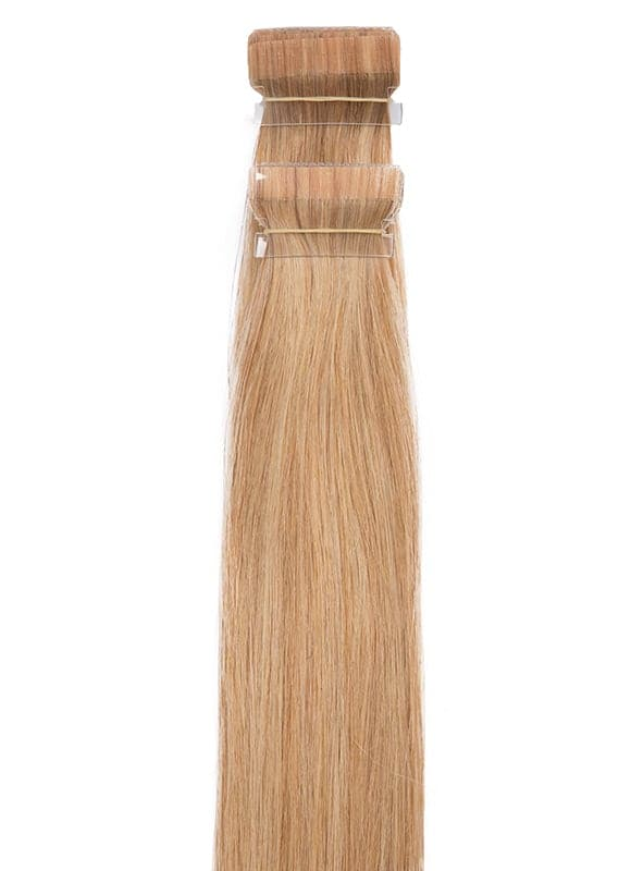 20 Inch Tape Hair Extensions #18 Golden Blonde